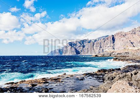 View On Rocky Cliffs And Ocean