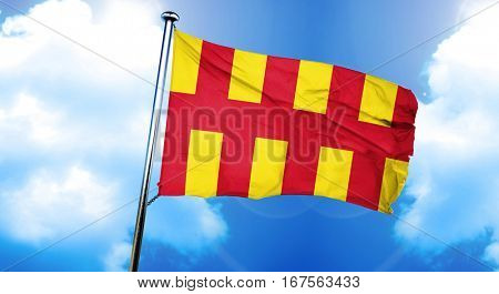 Northumberland flag, 3D rendering