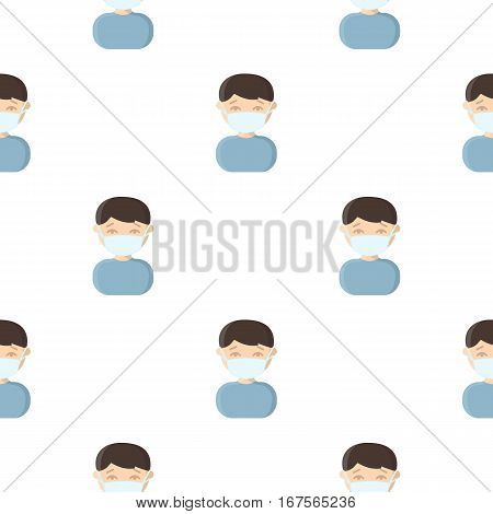 Mask infection icon cartoon. Single sick icon from the big ill, disease cartoon. - stock vector