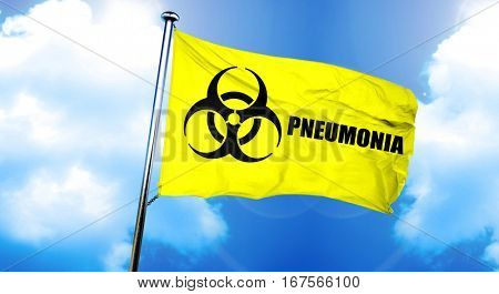 Pneumonia flag, 3D rendering