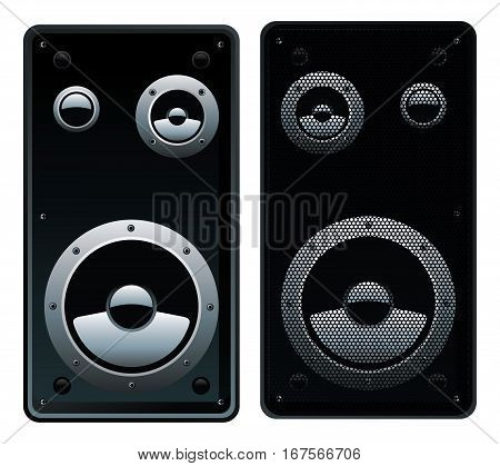 stylized vector illustration of modern speaker system