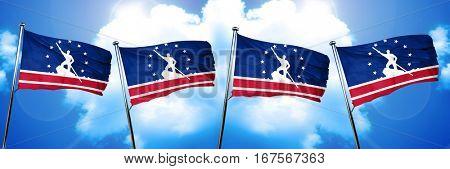 Richmond flag, 3D rendering