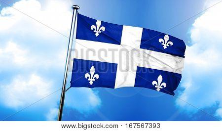 Quebec flag, 3D rendering
