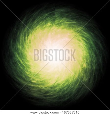 Space vague forming of bright stars and light misty spiral.