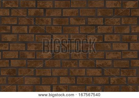 Texture of brown brick rectangular shape.