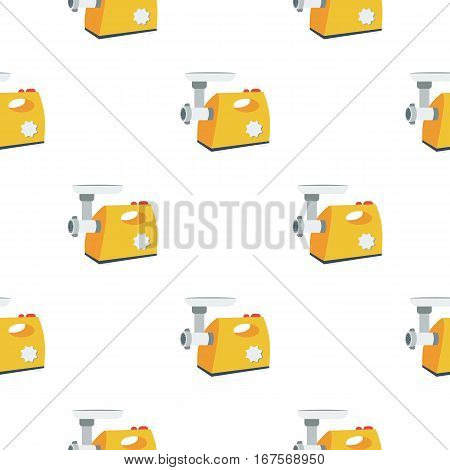 Electical meat grinder icon in flat style isolated on white background. Kitchen pattern vector illustration.