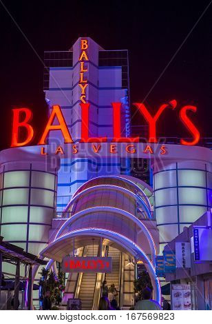 LAS VEGAS - NOV 24 : The Ballys hotel on November 24 2016 in Las Vegas. The Ballys is located on the Strip and has over 2800 rooms