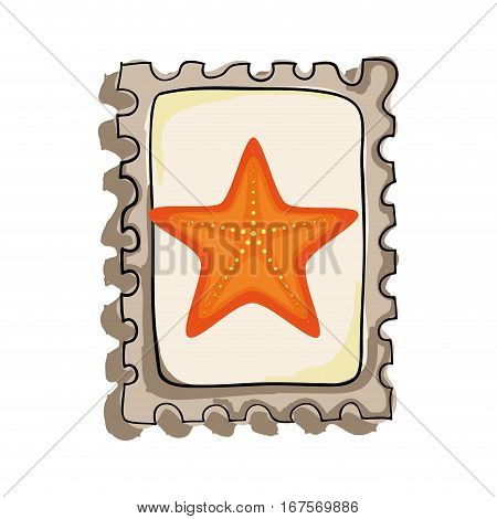 star fish isolated icon vector illustration design
