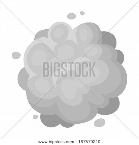 Explosion icon in monochrome design isolated on white background. Explosions symbol stock vector illustration.