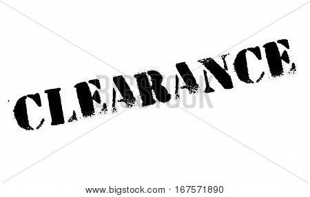 Clearance stamp. Grunge design with dust scratches. Effects can be easily removed for a clean, crisp look. Color is easily changed. rubber grunge