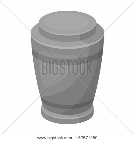 Funeral urns icon in monochrome design isolated on white background. Funeral ceremony symbol stock vector illustration.