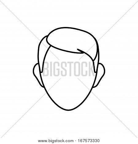 Man head silhouette icon vector illustration graphic design