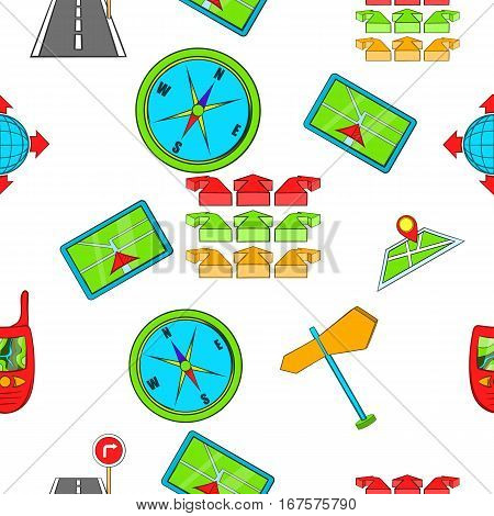 Search the way pattern. Cartoon illustration of search the way vector pattern for web