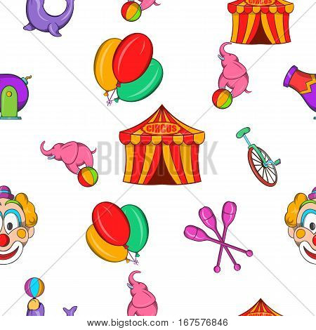 circus pattern. Cartoon illustration of circus vector pattern for web