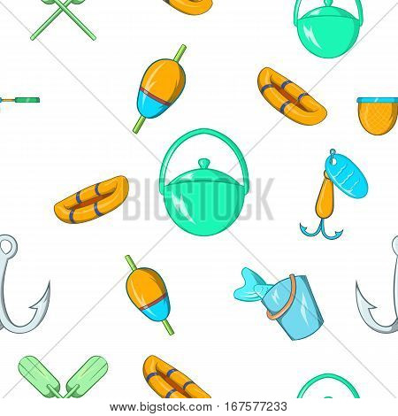 Angling pattern. Cartoon illustration of angling vector pattern for web