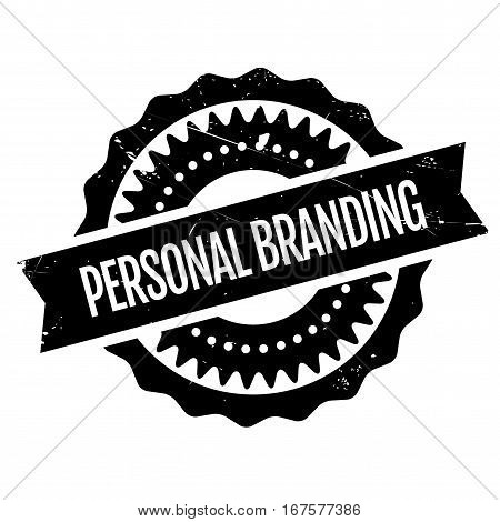 Personal branding stamp. Grunge design with dust scratches. Effects can be easily removed for a clean, crisp look. Color is easily changed.