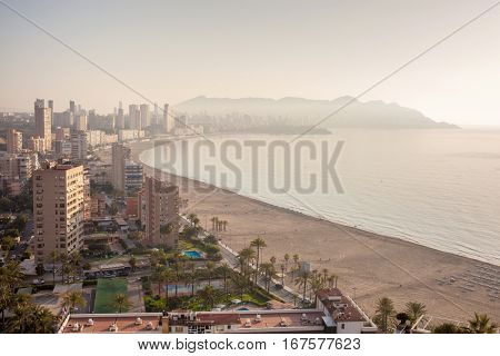 view from the city of Benidorm