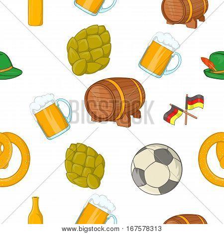 Stay in Germany pattern. Cartoon illustration of stay in Germany vector pattern for web
