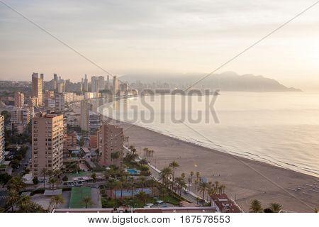 panoramic view of the tourist hub Benidorm