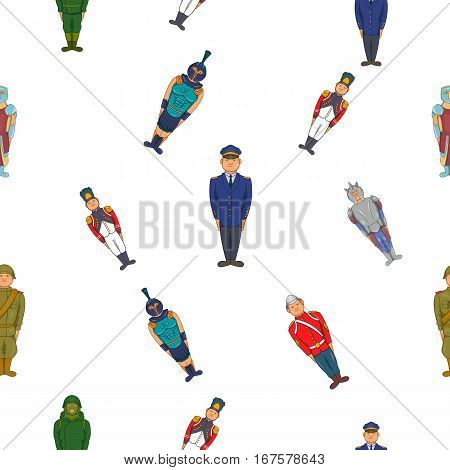 Fighter pattern. Cartoon illustration of fighters vector pattern for web
