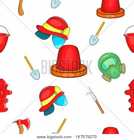 Fire fighter pattern. Cartoon illustration of fire vector pattern for web