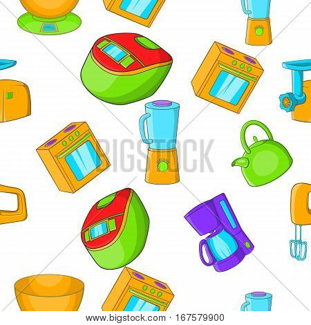 Home electronics pattern. Cartoon illustration of home electronics vector pattern for web