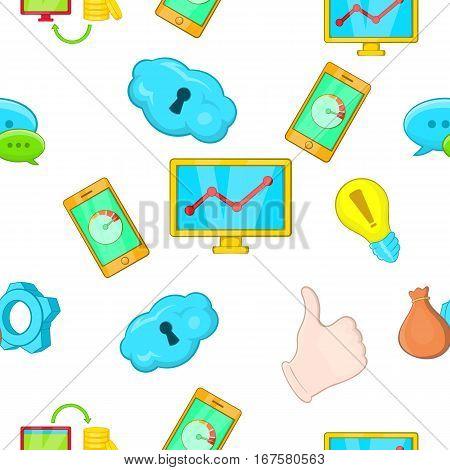 SEO icons set. Cartoon illustration of SEO vector icons for web