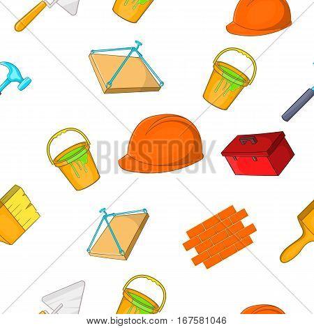 Construction pattern. Cartoon illustration of construction vector pattern for web
