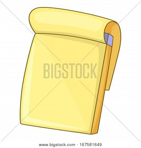 Notebook icon. Cartoon illustration of notebook vector icon for web