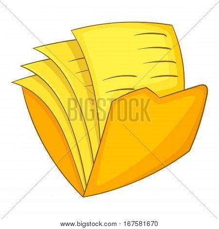 Office folder icon. Cartoon illustration of office folder vector icon for web