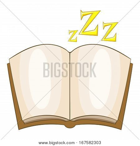 Bedtime story icon. Cartoon illustration of bedtime story vector icon for web