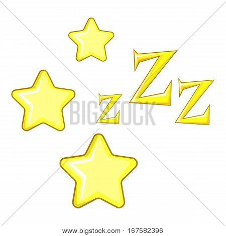 Dreaming icon. Cartoon illustration of dreaming vector star icon for web
