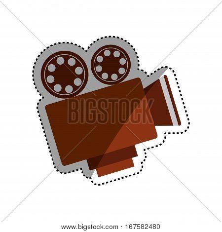 Vintage movie camcorder icon vector illustration graphic design