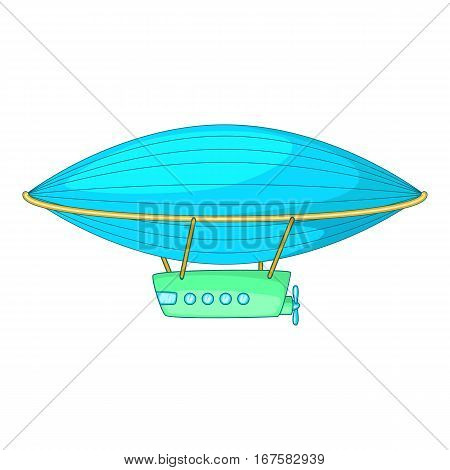 Airship icon. Cartoon illustration of airship vector icon for web