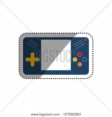 Portable videogame console icon vector illustration graphic design