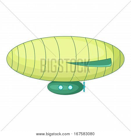 Elliptic airship icon. Cartoon illustration of elliptic airship vector icon for web