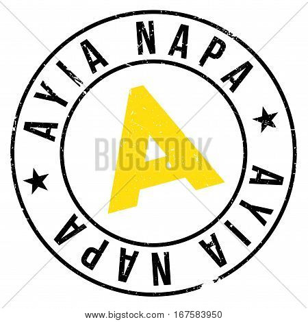 Ayia Napa stamp. Grunge design with dust scratches. Effects can be easily removed for a clean, crisp look. Color is easily changed.