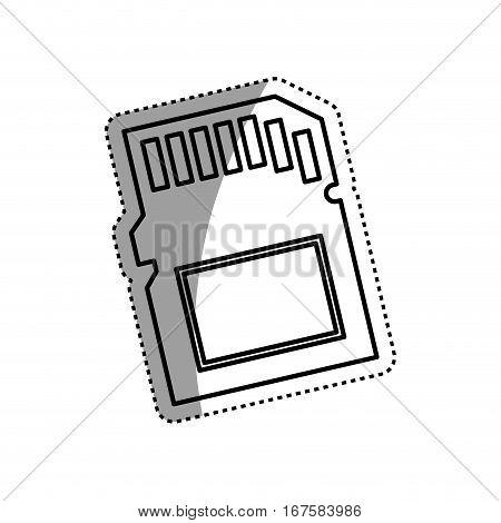Micro SD memory card icon vector illustration graphic design