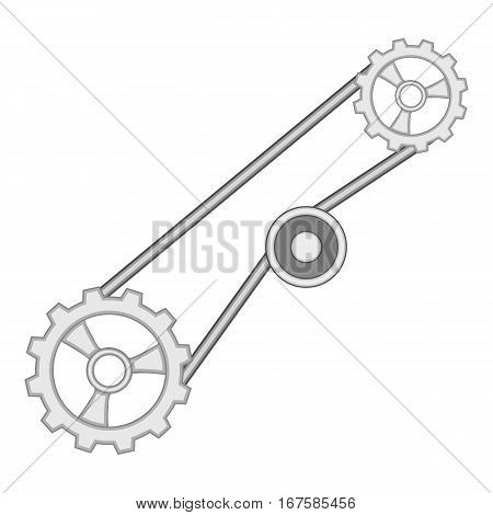 Timing belt icon. Cartoon illustration of timing belt vector icon for web