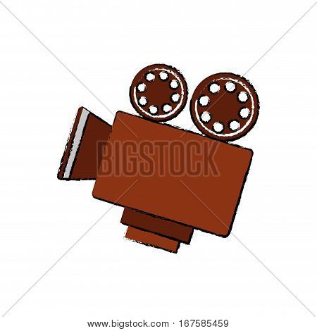Vintage movie camcorder icon vector illustration graphic design