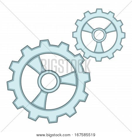 Gears icon. Cartoon illustration of gears vector icon for web
