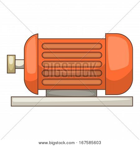 Electric motor icon. Cartoon illustration of electric motor vector icon for web