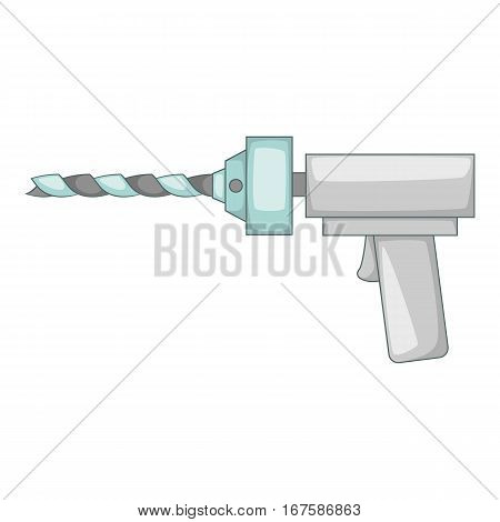 Orthopedic drill icon. Cartoon illustration of orthopedic drill vector icon for web