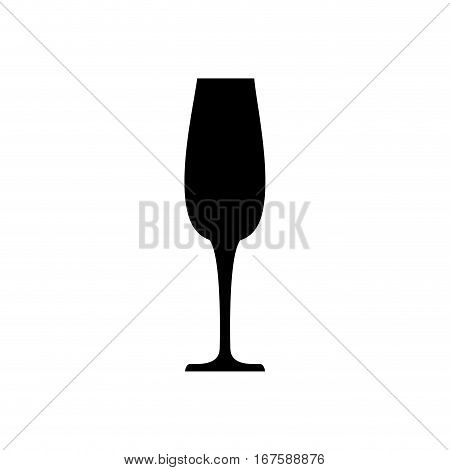 Champagne glass cup icon vector illustration graphic design