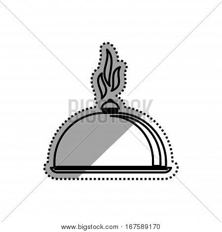 Restaurant dish dome icon vector illustration graphic design