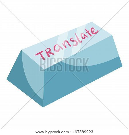 Translate button icon. Cartoon illustration of translate button vector icon for web