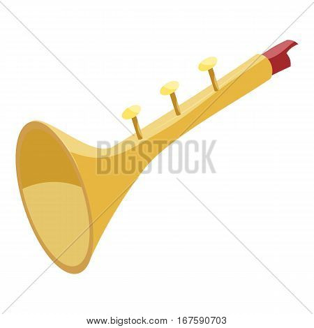 Toy trumpet icon. Cartoon illustration of toy trumpet vector icon for web