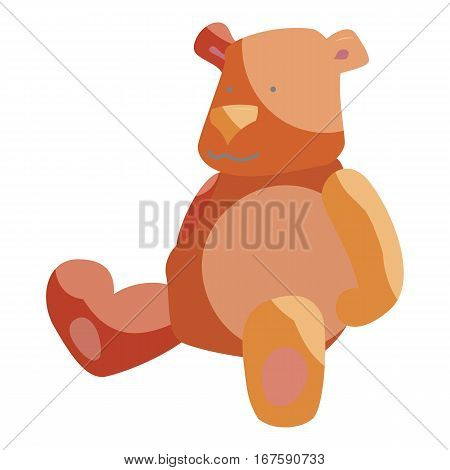 Teddy bear toy icon. Cartoon illustration of teddy bear toy vector icon for web