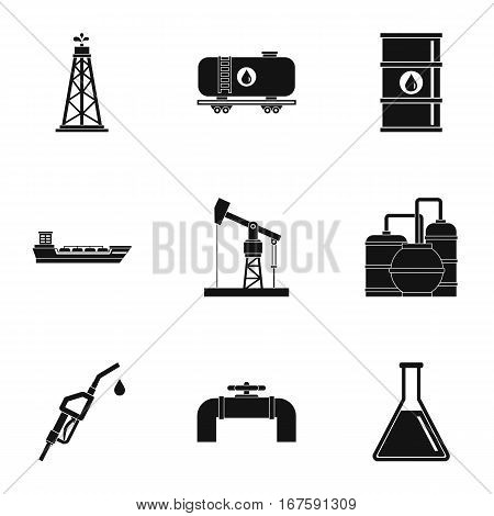 Fuel icons set. Simple illustration of 9 fuel vector icons for web