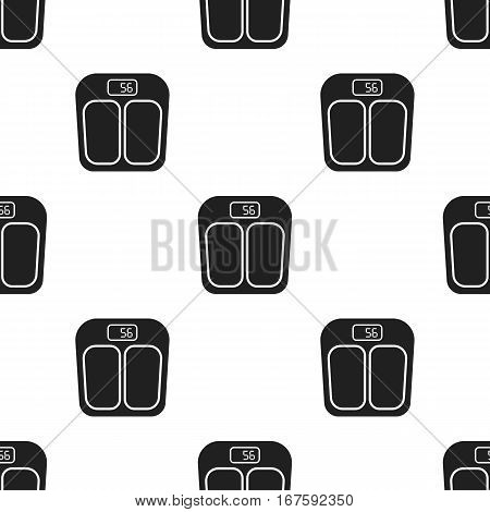 Scale icon in black style isolated on white background. Pregnancy pattern vector illustration. - stock vector